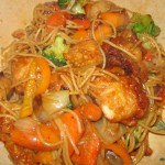 Sweet and Sour Chicken with Angel Hair Pasta