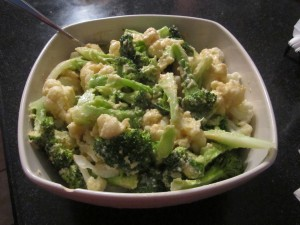 Broccoli with Hummus