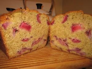 Strawberries and Cream Bread