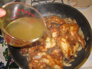 Add chicken stock