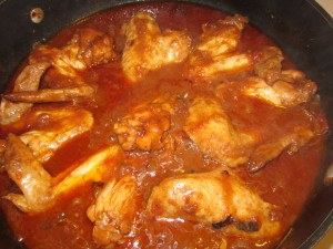 Add tomatoes and simmer