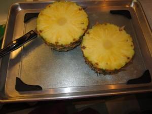 Cutting board in jelly roll pan