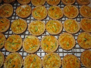 Zucchini and Cheese Tartlets