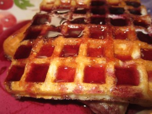 Blueberry Syrup on Waffles