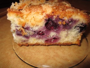 Blueberry and Cheese Coffeecake