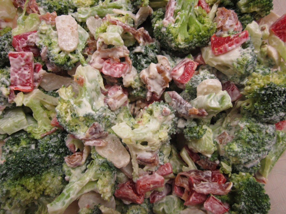 Easy Broccoli Salad | The Charmed Kitchen