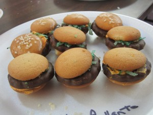 """Cheeseburger"" Cookies"