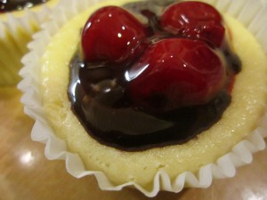 Cherry and Chocolate Mini Cheesecakes