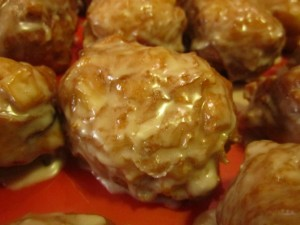 Maple Bacon Apple Fritters