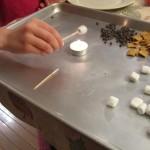 Toast mini marshmallows over a candle
