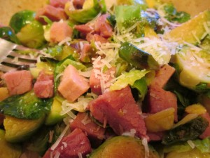 Ham with Brussels Sprouts