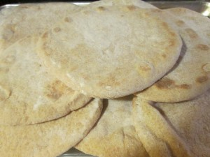 Fresh baked pita bread