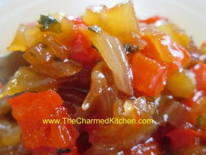Easy onion and pepper relish