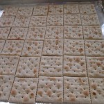 Arrange crackers on a baking sheet