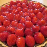 Spoon glaze over berries and chill tart before serving