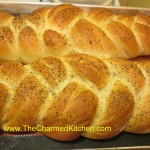 Challah Bread, baked on a baking sheet, instead on in loaf pans