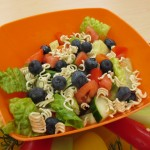 Fruit and Veggie Salad with Ramen noodles