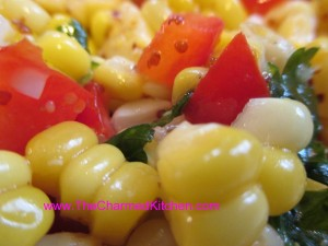 Corn Salad with Lemonade Mustard Dressing