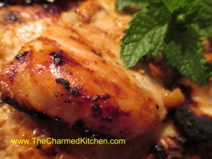 Peach Gglazed Chicken