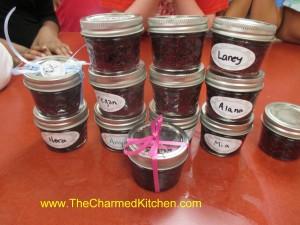 Blueberry Jam the kids made