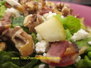 Pear Salad with Feta and Bacon