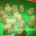 Frozen Basil Cubes