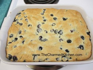 Warm Blueberry Cake