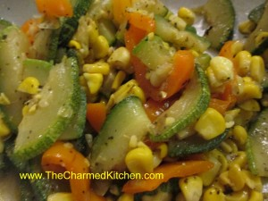 Corn and Zucchini Saute