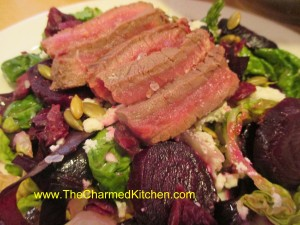 Roasted Beet Salad with Steak