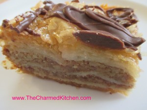 Baklava with Chocolate Drizzle