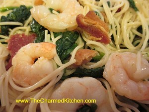 Shrimp with Spinach and Bacon