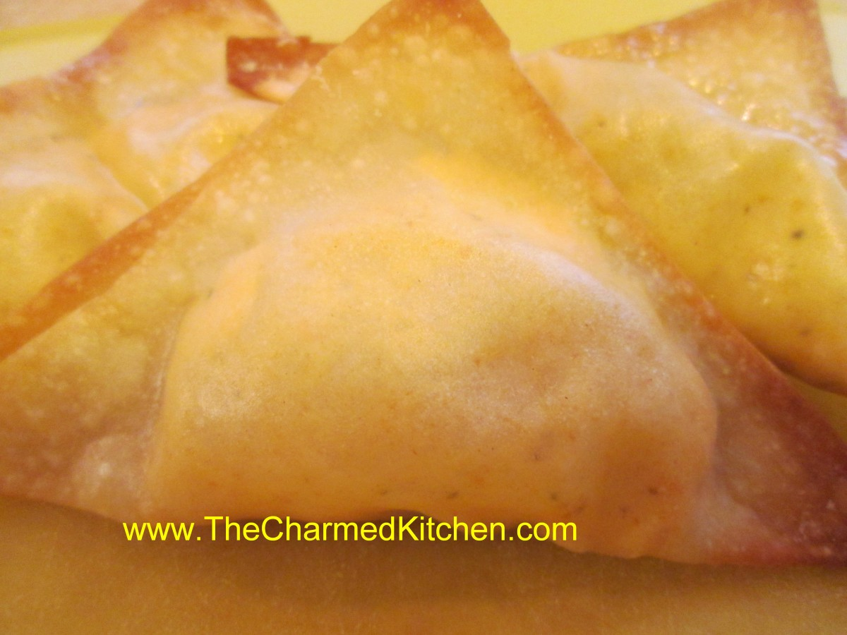 Easy crab rangoons the charmed kitchen for The charmed kitchen