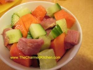 Ham and Papaya Salad