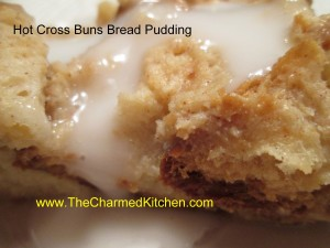 Hot Cross Bun Bread Pudding