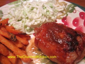 Rhubarb Glazed Chicken