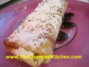 Cherry and Chocolate Blintz