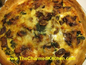 Lambsquarters and Mushroom Quiche