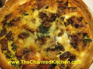 Lambsquarters and Mushroom Quiche