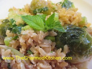 Minty Brown Rice Salad