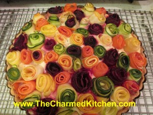 "Vegetable ""Roses"" Cheese Tart"