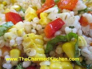 Barley and Corn Salad with Basil