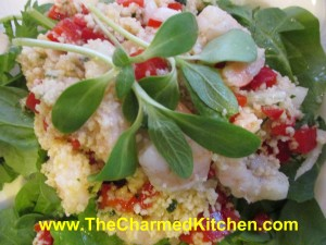 Couscous Salad with Shrimp and Dill