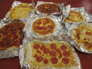 Pizzas made by kids in camp