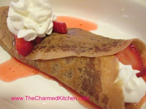 Chocolate Crepes with Strawberries