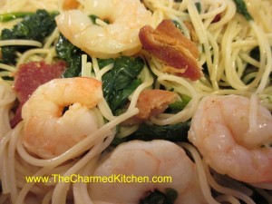 Shrimp with Bacon and Spinach