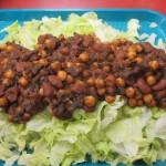 Three bean taco salad