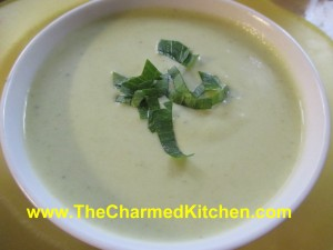 Fresh Pea Soup with Lovage