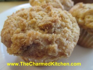 Streusel Peach Muffins