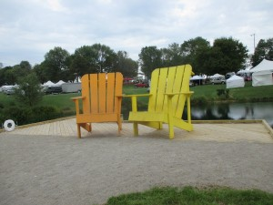 Giant Adirondack Chairs. I am located right next to them.