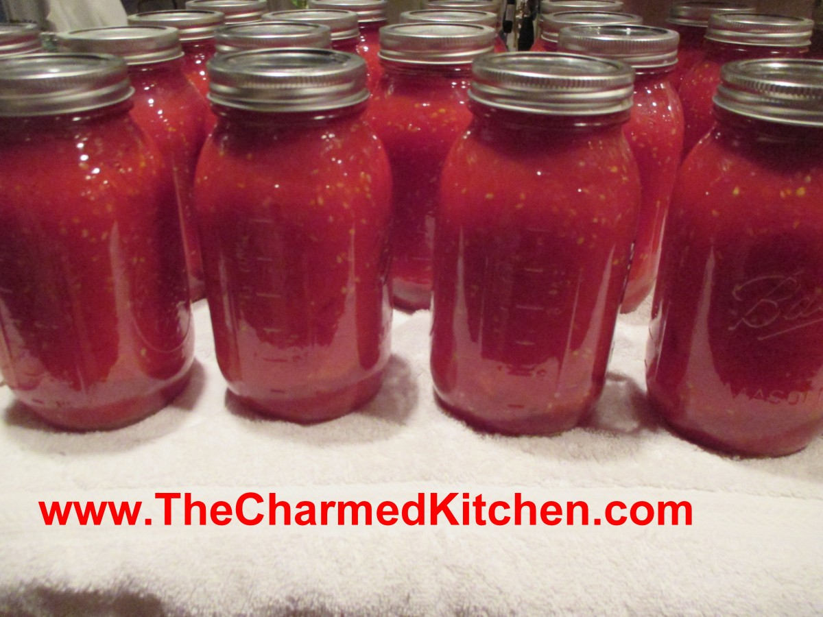 Canning tomatoes the charmed kitchen for The charmed kitchen